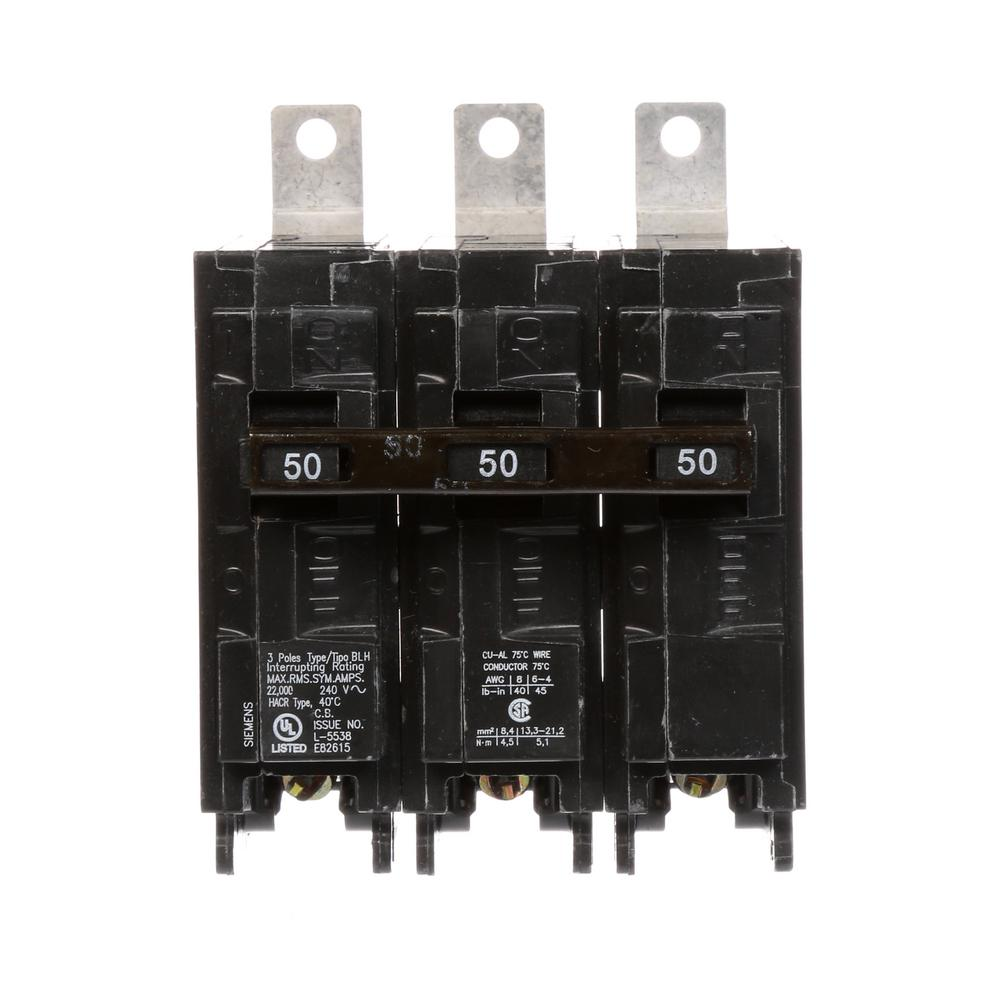 Siemens 50 Amp 3-Pole Type BLH 22 kA Circuit Breaker