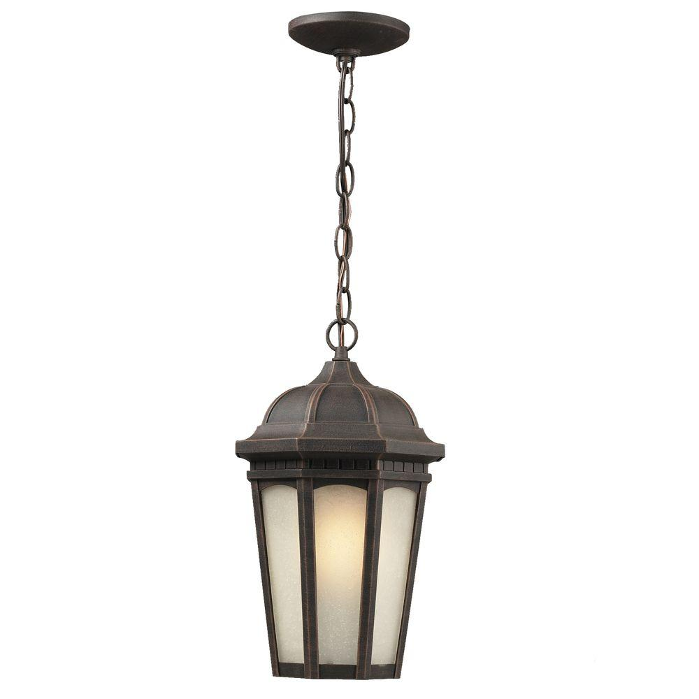 Tulen Lawrence 1-Light Outdoor Antique Bronze Incandescent Hanging Pendant