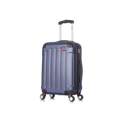 Intely 20 in. Blue Hardside Spinner Carry-on with USB Port