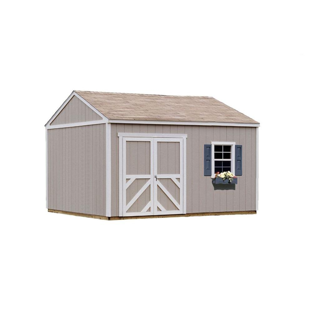 Handy Home Products Columbia 12 ft. x 12 ft. Wood Storage Building Kit