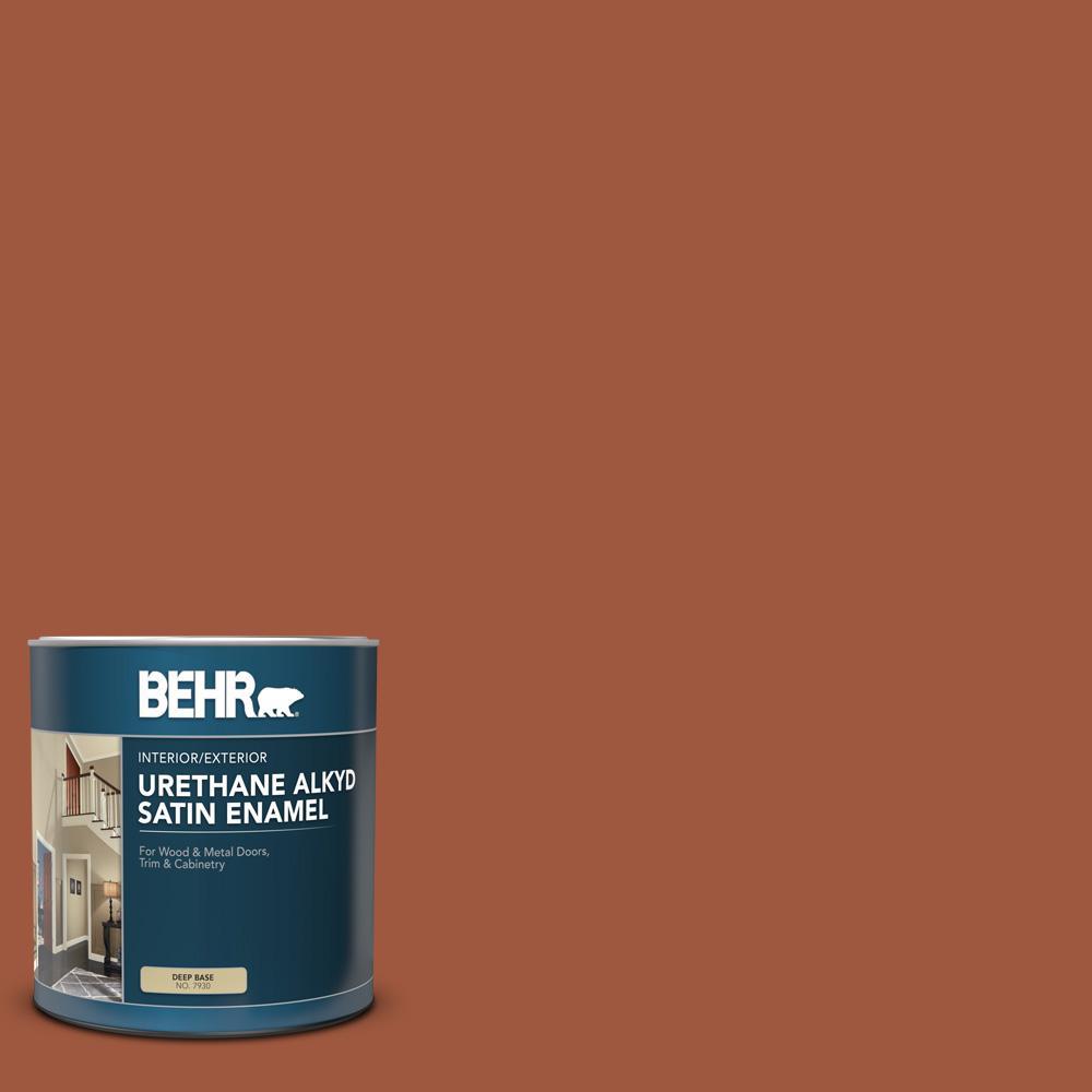 Behr 1 Qt Home Decorators Collection Hdc Ac 01 Nouveau Copper Satin Enamel Urethane Alkyd Interior Exterior Paint 793004 The Home Depot