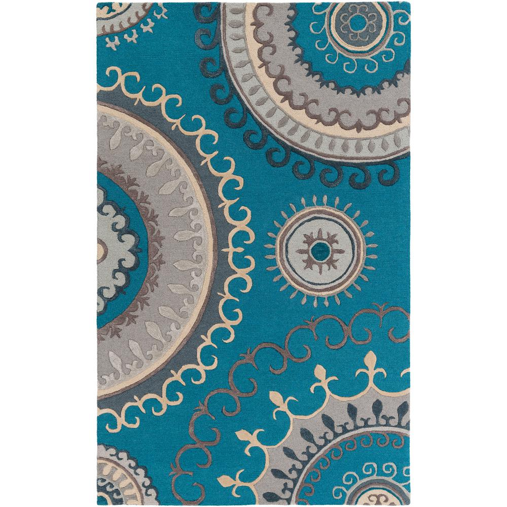NuLOOM Ombre Shag Turquoise 5 Ft. X 8 Ft. Area Rug-HJOS02A