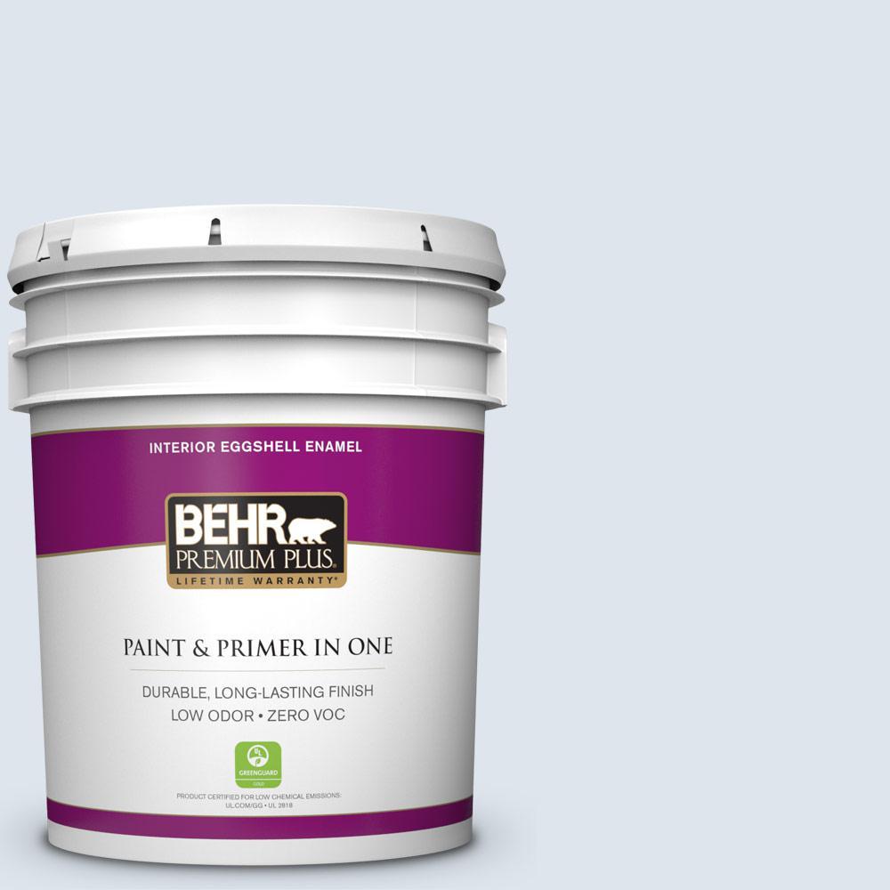 BEHR Premium Plus 5-gal. #570E-1 Glass Bead Zero VOC Eggshell Enamel Interior Paint