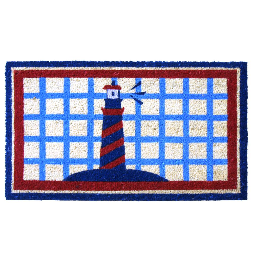 Rubber cal lighthouse on the cape cod 18 in x 30 in door for Cape cod door mat