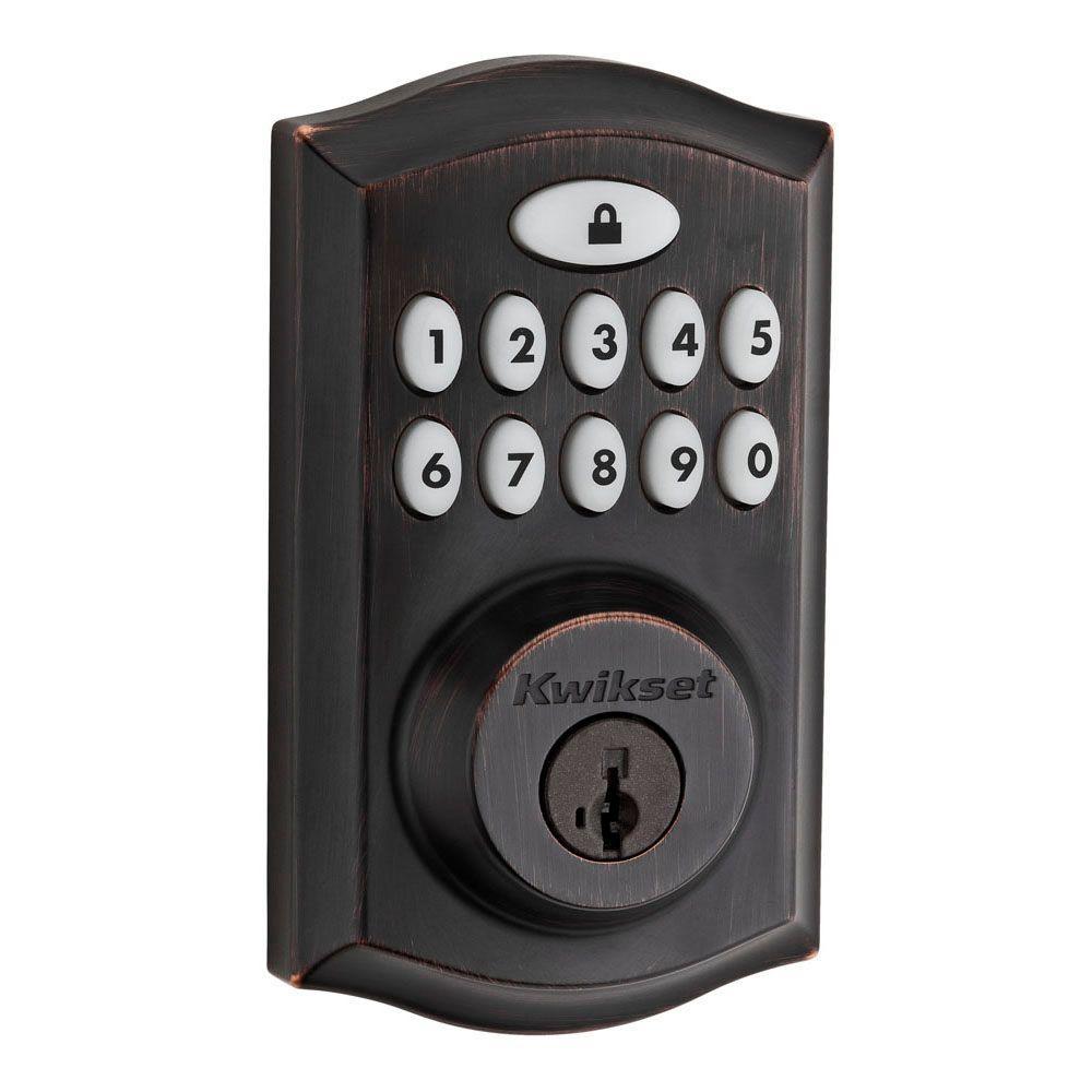 SmartCode 913 Venetian Bronze Single Cylinder Electronic Deadbolt Featuring SmartKey Security