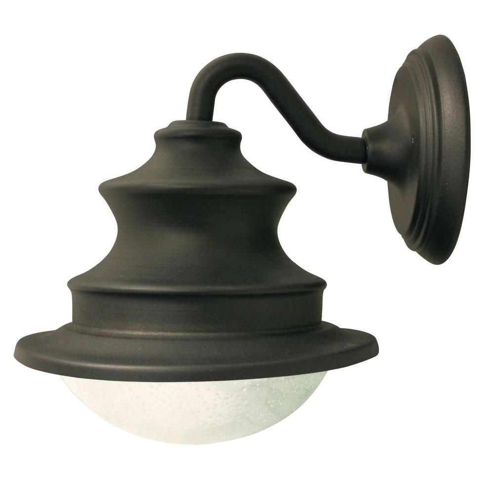Barn Solar Brown Outdoor Integrated LED Wall Light