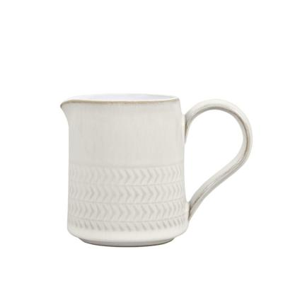 6.8 oz. Natural Canvas Textured Small Jug