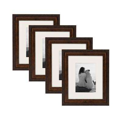 Martinez 8 in. x 10 in. Matted to 5 in. x 7 in. Bronze Picture Frame (Set of 4)