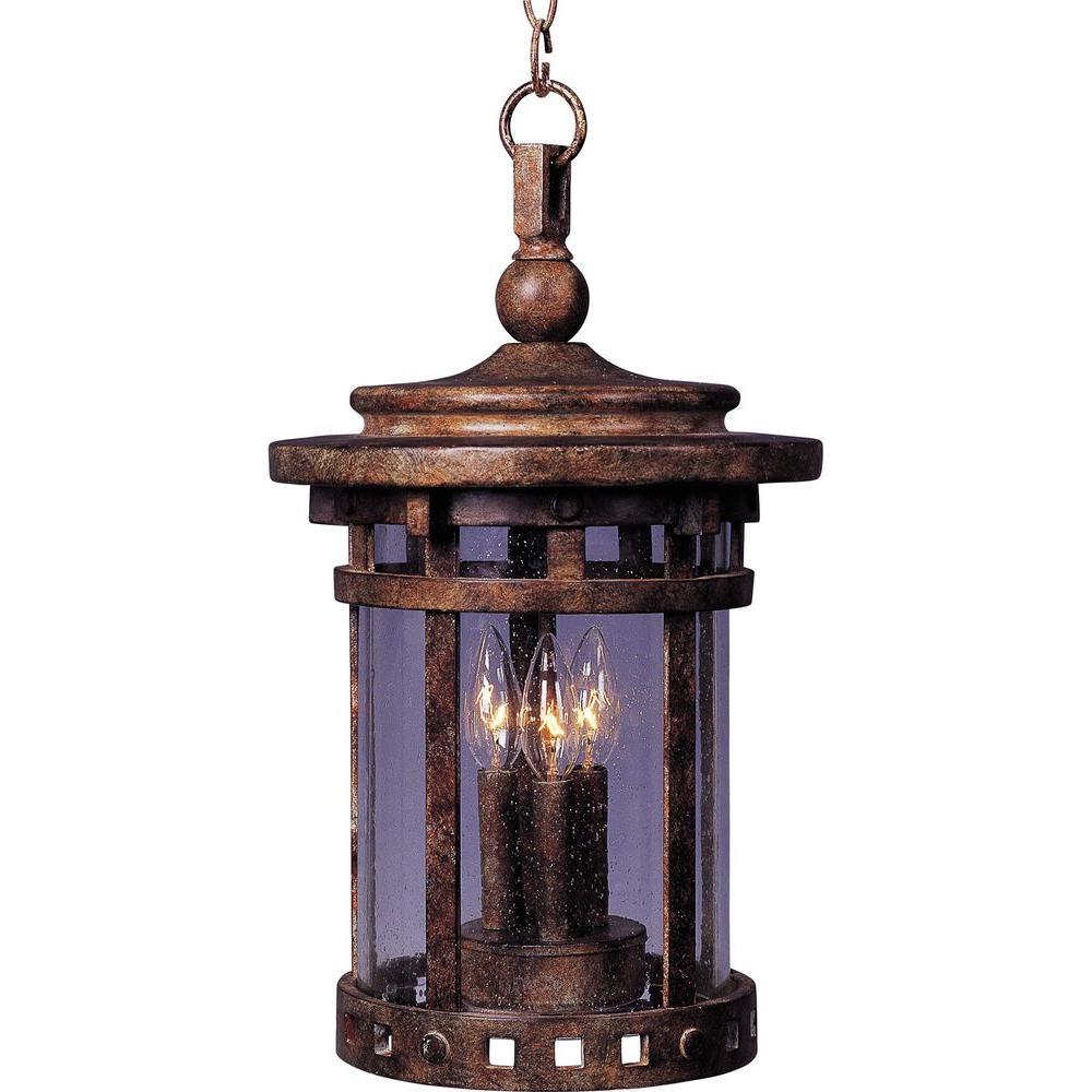 Santa Barbara VX 3-Light Sienna Outdoor Hanging Lantern