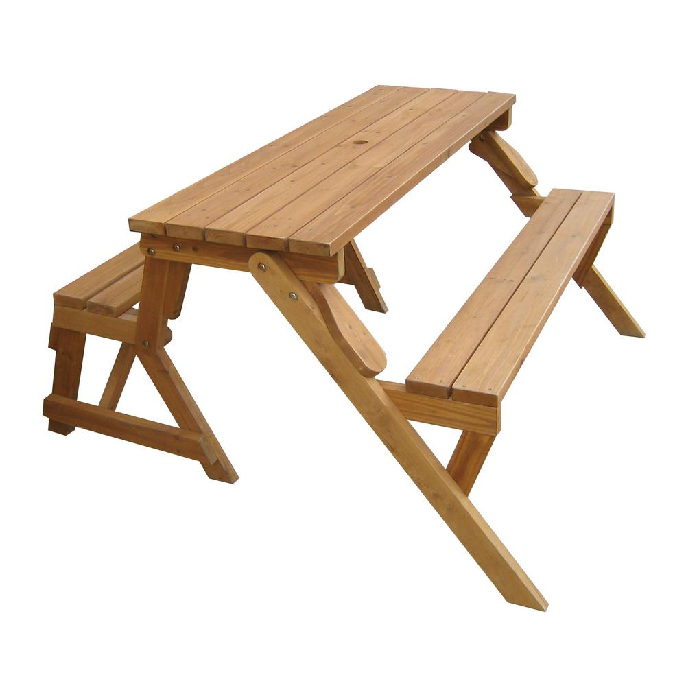 Outstanding Northbeam Natural Wood Interchangeable Picnic Table And Bench Dailytribune Chair Design For Home Dailytribuneorg
