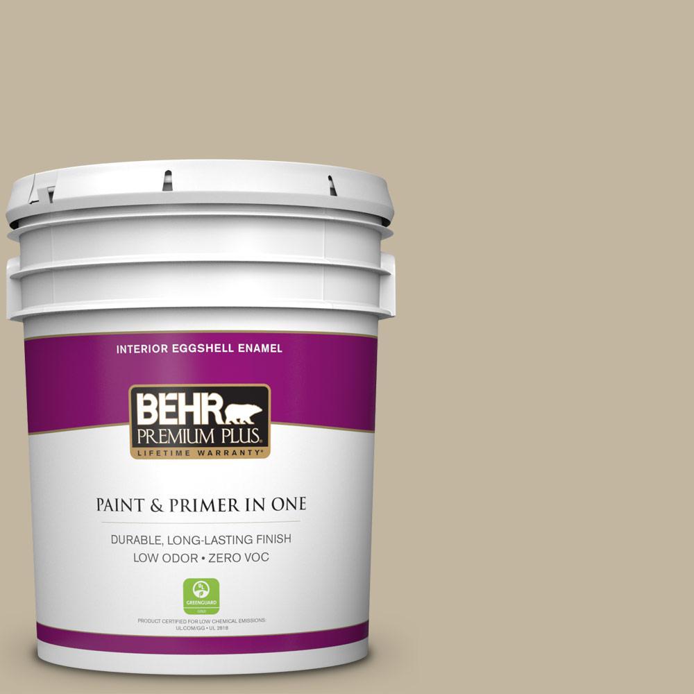 BEHR Premium Plus Home Decorators Collection 5-gal. #HDC-NT-09 Basic Khaki Zero VOC Eggshell Enamel Interior Paint