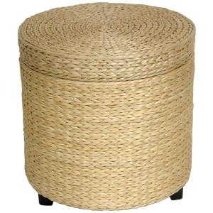Natural Storage Ottoman by