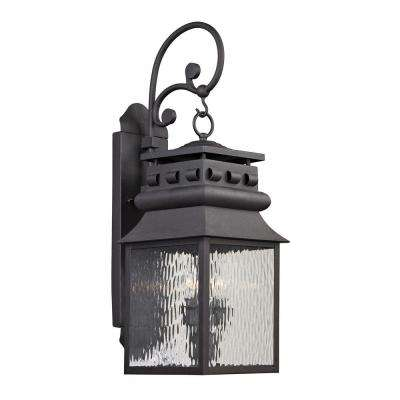 Georgetown Collection 2-Light Charcoal Outdoor Sconce