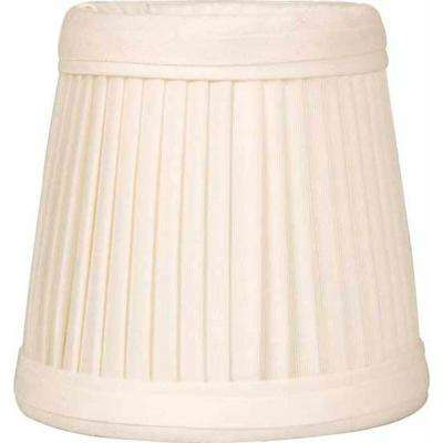 Stretch Pleated Faux Silk Eggshell Chandelier Shade