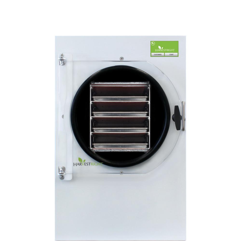 4-Tray Medium White Aluminum Freeze Dryer with Mylar Starter Kit