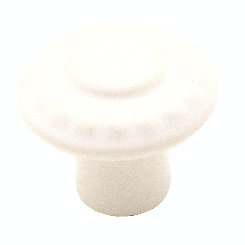 1-3/8 in. White Cabinet Knob