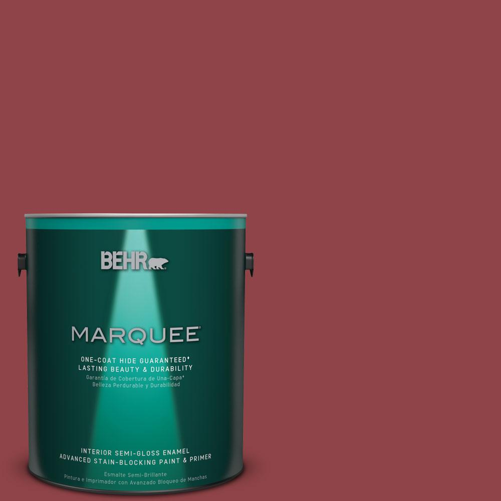 BEHR MARQUEE 1 gal. #MQ1-9 Haute Couture One-Coat Hide Semi-Gloss Enamel Interior Paint