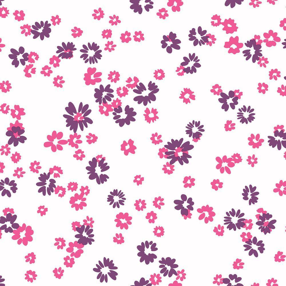 York Wallcoverings 56 sq. ft. Floral Toss Wallpaper