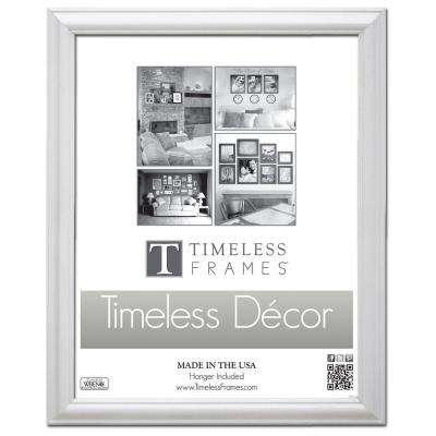 Brenna 1-Opening 18 in. x 24 in. White Picture Frame