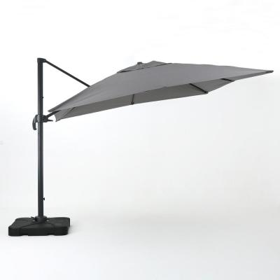 9.83 ft. Aluminum Cantilever Patio Umbrella in Gray