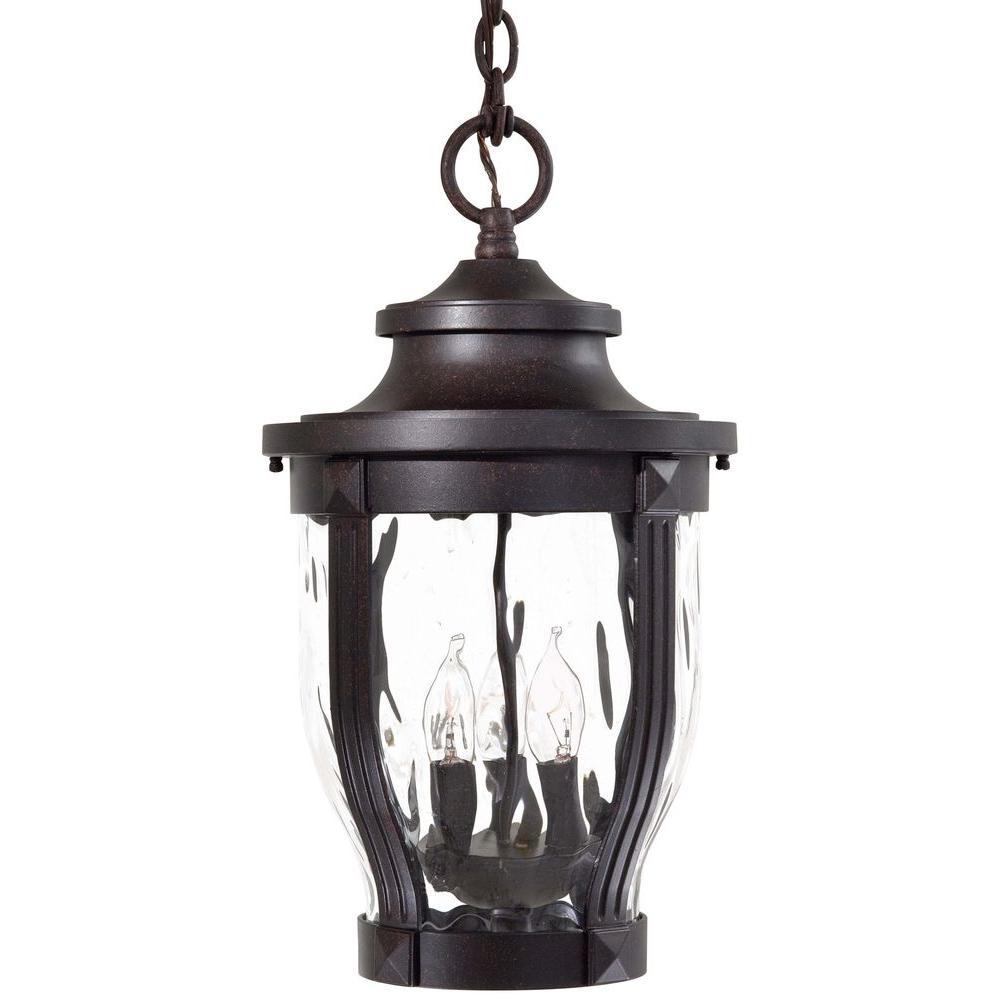Merrimack Corona Bronze 3-Light Hanging Outdoor Lantern