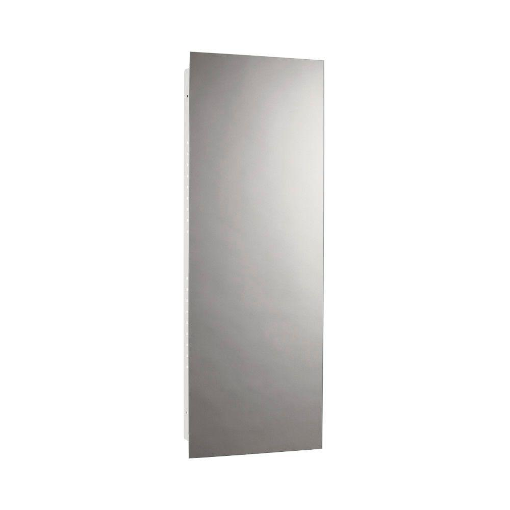 Illusion 13 in. W x 36 in. H x 3-3/4 in. D Frameless Recessed Bathroom Medicine Cabinet in White