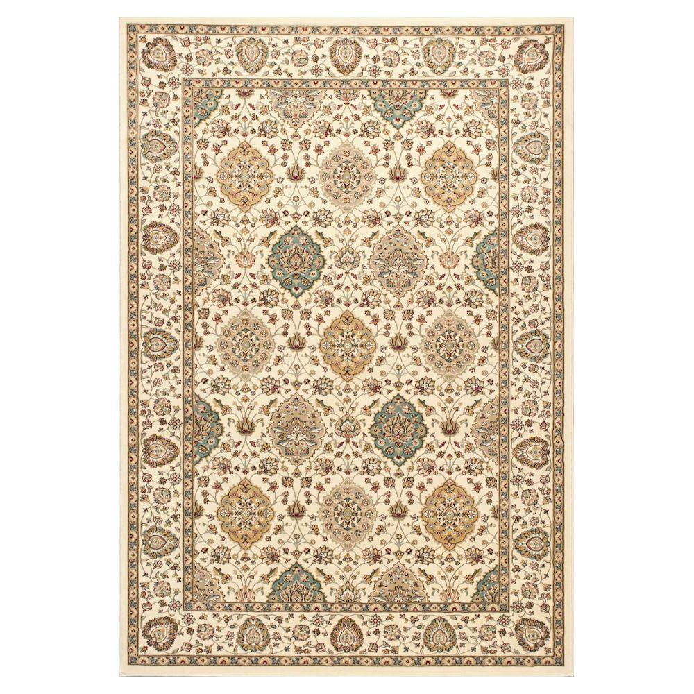 Kas Rugs Reynolds Classic Ivory 8 ft. x 11 ft. Area Rug With the Kas Rugs 8 ft. x 11 ft. Area Rug, you can provide a unique appearance to any environment. This area rug has stain-resistant fabrics and fade-resistant materials. It has an oriental motif, adding an ornate accent to your home decor with detailed patterning. Designed with ivory features, this rug adds to the pleasant and refined atmosphere of your room for an understated touch of elegance. It has a 100% polypropylene design, which adds both style and comfort.