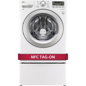 white lg electronics front load washers wm3270cw 77_300 lg electronics 4 5 cu ft high efficiency front load washer in LG True Balance Not Draining at gsmportal.co
