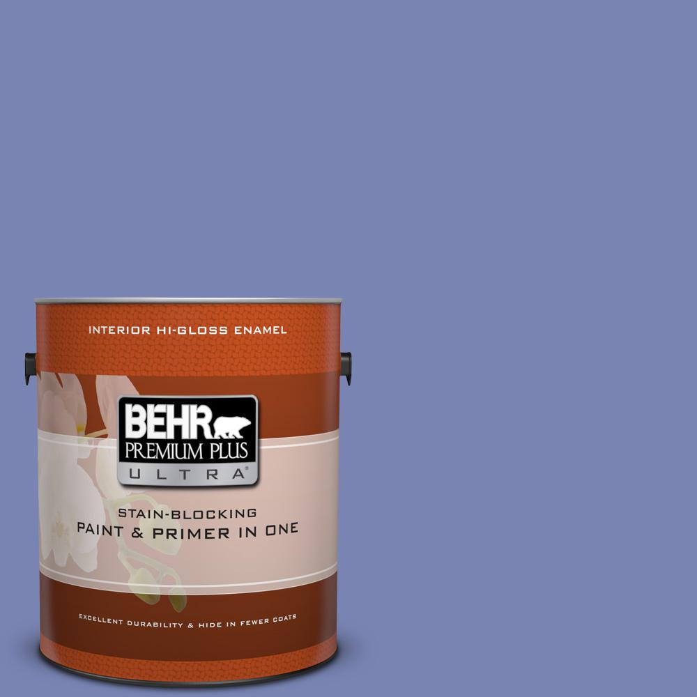 1 gal. #610B-5 Corsican Purple Hi-Gloss Enamel Interior Paint