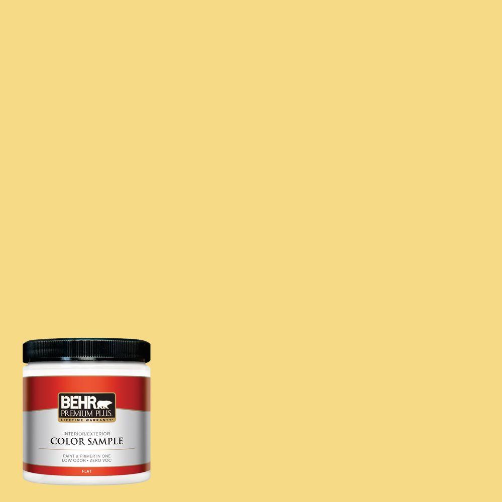 BEHR Premium Plus 8 oz. #390B-5 Bee Pollen Interior/Exterior Paint Sample