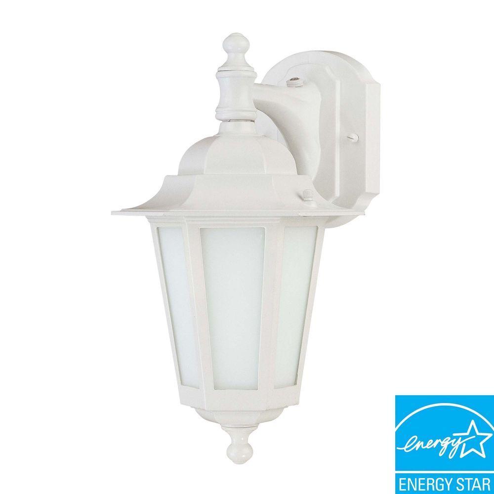 Wall-Mount Outdoor White Lantern