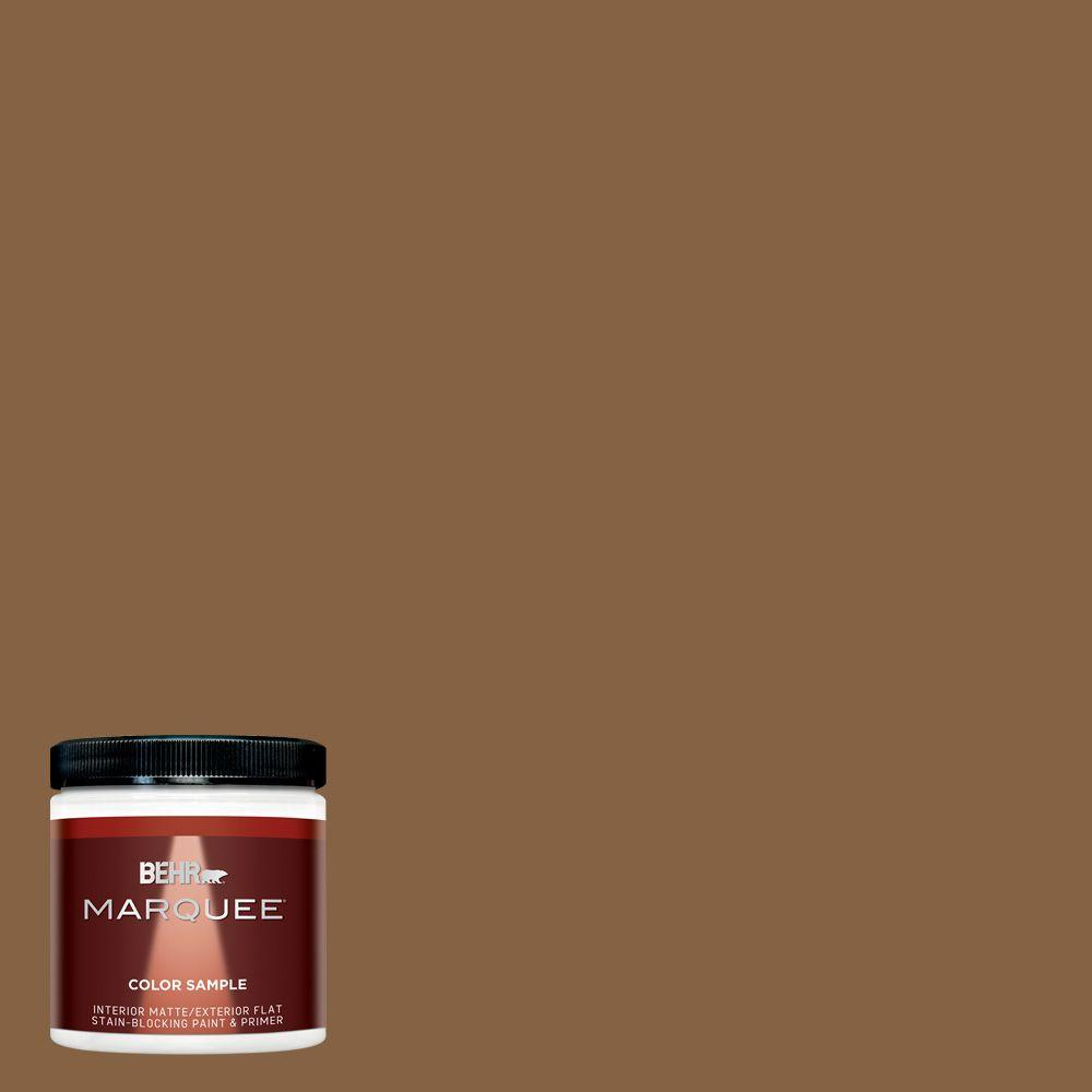 Behr marquee 8 oz mq2 10 burnt caramel interior exterior paint sample mq30316 the home depot - Behr exterior paint ideas property ...