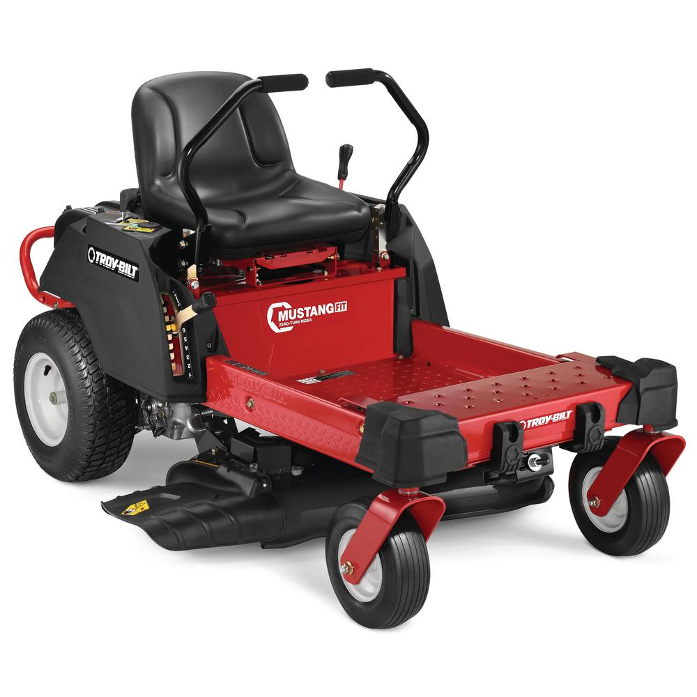 Troy-Bilt Mustang 34 in  452 cc OHV Engine Gas Zero Turn Riding Mower with  Dual Hydrostatic Transmission and Lap Bar Control