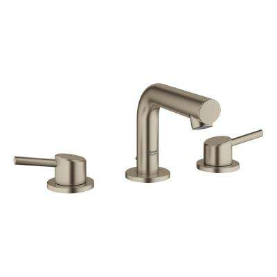 Concetto 8 in. Widespread 2-Handle Mid-Arc Bathroom Faucet in Brushed Nickel