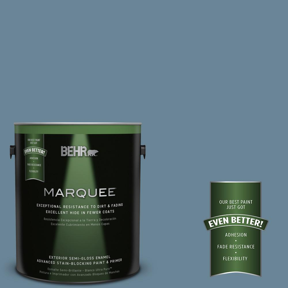 BEHR MARQUEE 1-gal. #MQ5-60 South Pacific Semi-Gloss Enamel Exterior Paint