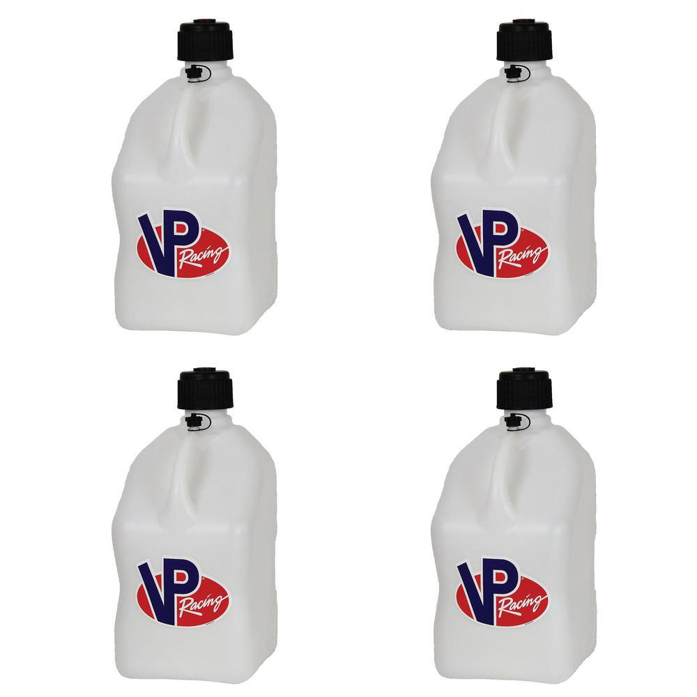 5 Gal. White Motorsport Racing Fuel Utility Jug Gas Can (4-Pack)