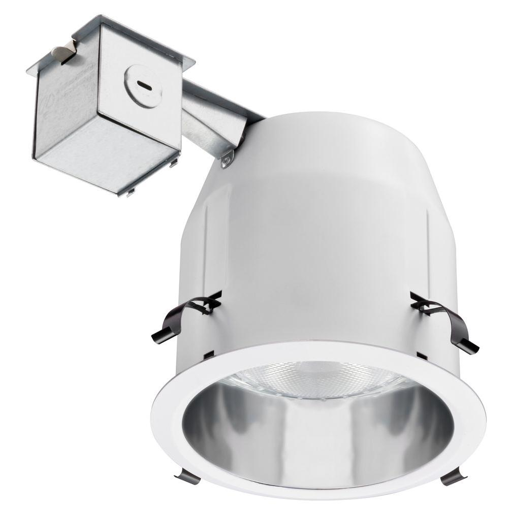 Lithonia Lighting 5 in. PAR30 Silver/White Anodized Smooth Recessed Downlighting Kit
