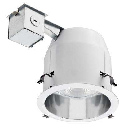 5 in. PAR30 Silver/White Anodized Smooth Recessed Downlighting Kit