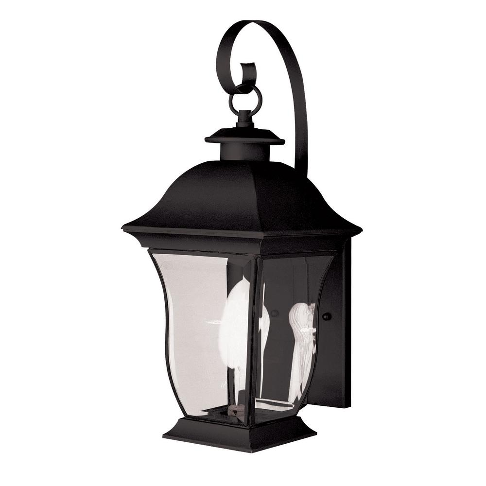 Downing 1-Light Black Outdoor Wall Mount Lantern
