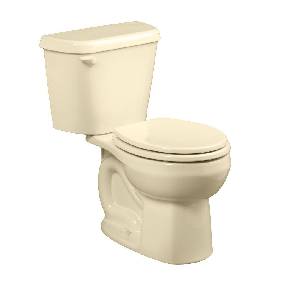 American Standard Colony 2 Piece 1 6 Gpf Single Flush Round Toilet In Bone Seat