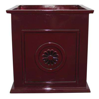 Colony 16 in. Dia Oxblood Resin Composite Square Planter
