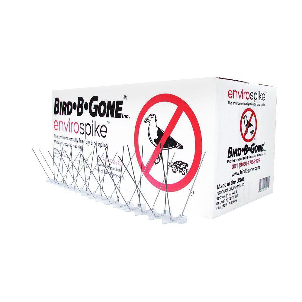 Bird B Gone Envirospike Stainless Steel Bird Spike Set 50 ft x 5