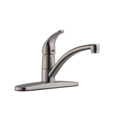 Trenton Single-Handle Standard Kitchen Faucet in Satin Nickel