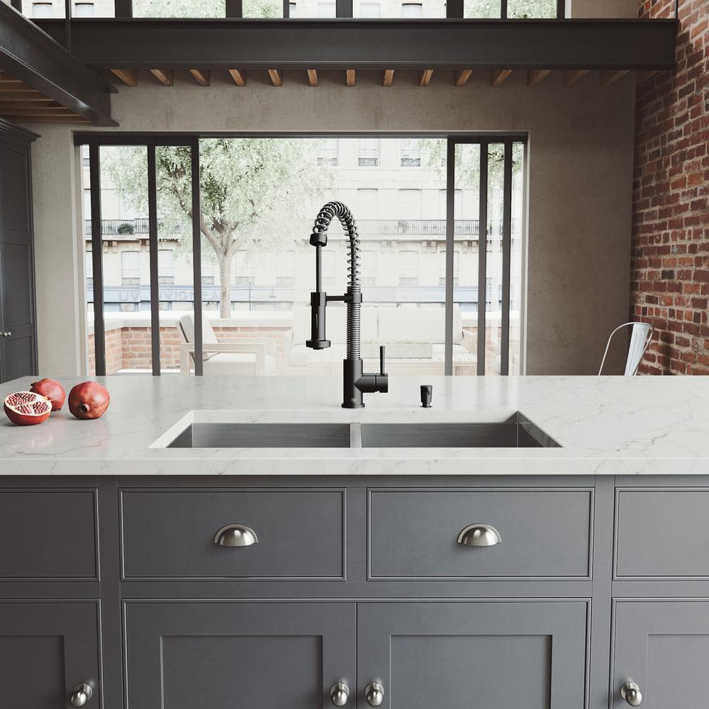 Matte Black - Stainless Steel - Kitchen Sinks - Kitchen - The Home Depot