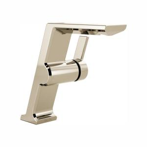 Pivotal Mid-Height Single Hole Single-Handle Bathroom Faucet in Polished Nickel