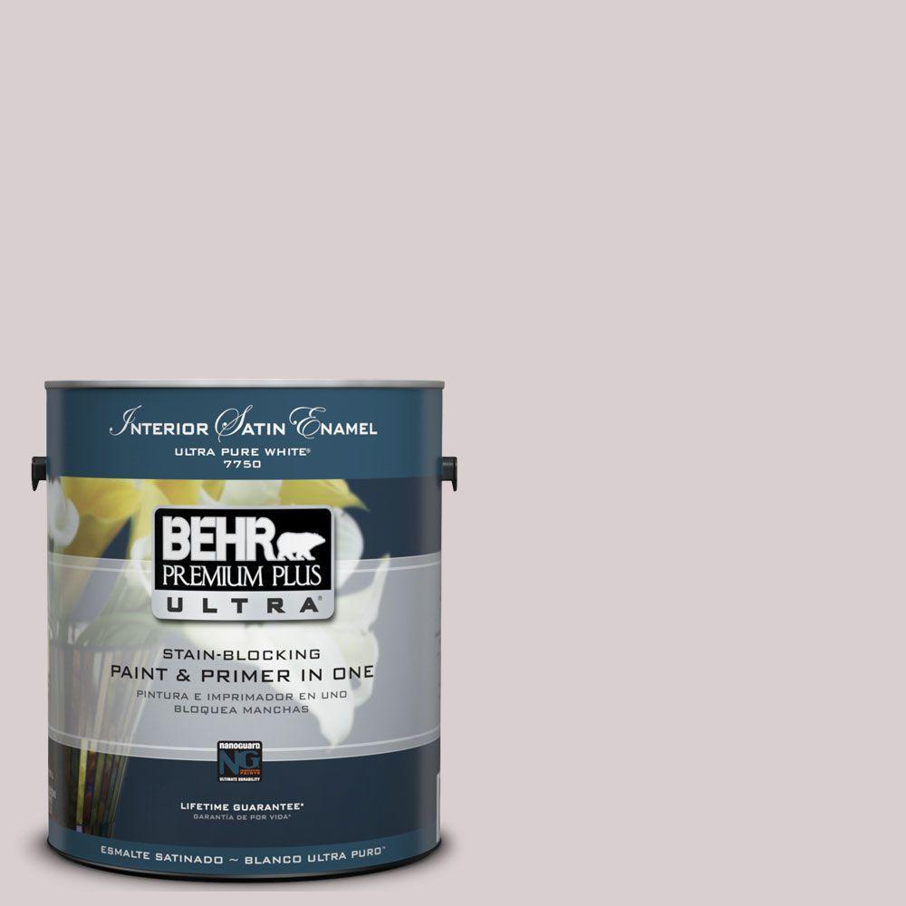 BEHR Premium Plus Ultra 1-Gal. #UL250-11 Mauve Morning Interior Satin Enamel Paint