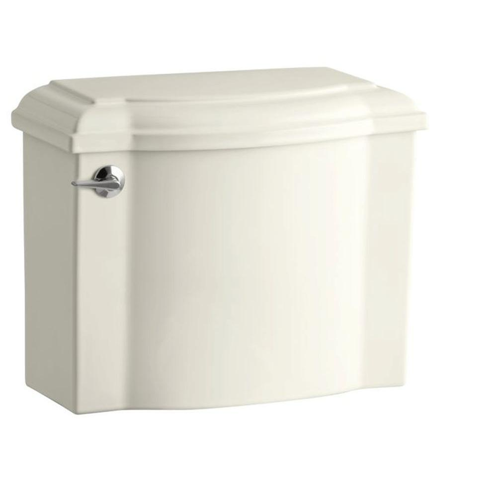 KOHLER Devonshire 1.28 GPF Single Flush Toilet Tank Only with AquaPiston Flush Technology in Biscuit
