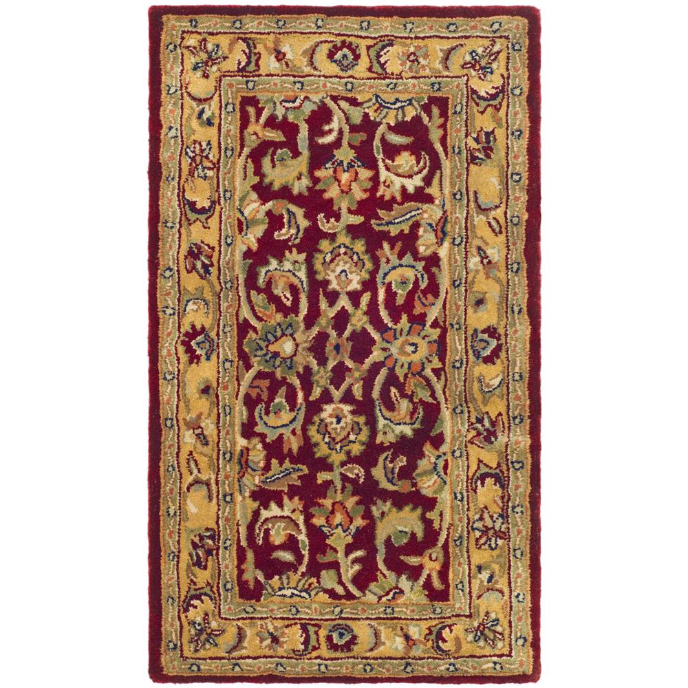 Safavieh Classic Red Gold 3 Ft X 5 Ft Area Rug Cl758c 3 The Home