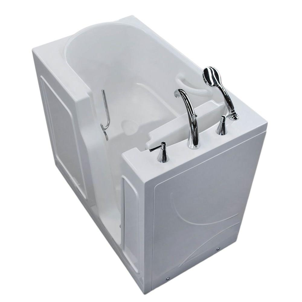 Universal Tubs 3.9 ft. Right Drain Walk-In Bathtub in White