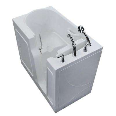 HD Series 26 in. x 46 in. Right Drain Quick Fill Walk-In Soaking Bathtub in White